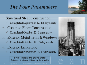 The cadence of pacemaker tasks dictates the project's pace.